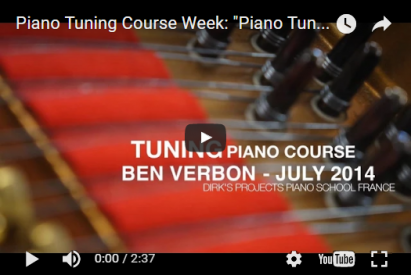 Course week 'Piano tuning for beginners'