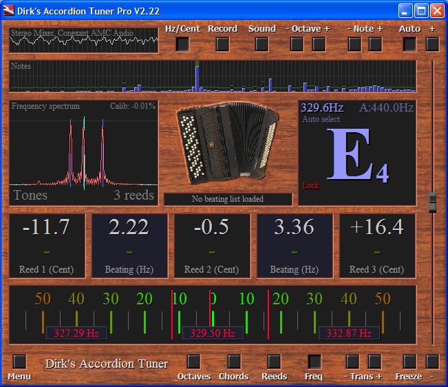 Dirk's professional Accordion Tuner v2.2