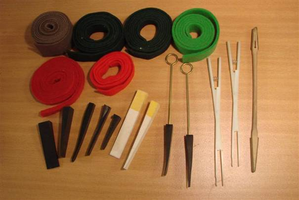 Mutes, Tweezers and Felt Strips